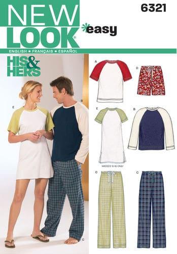 Sewing Pattern Sleepwear 6321