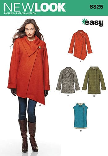 Sewing Pattern Jacket / Coat 6325