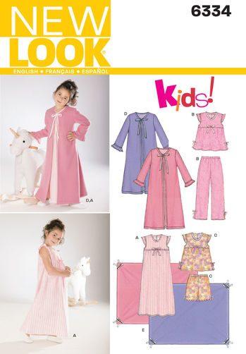 Sewing Pattern Sleepwear 6334
