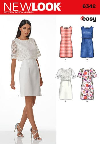 Sewing Pattern Dresses 6342
