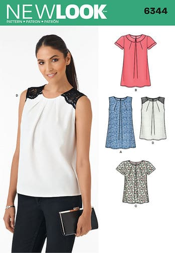 Sewing Pattern Tops Vests 6344