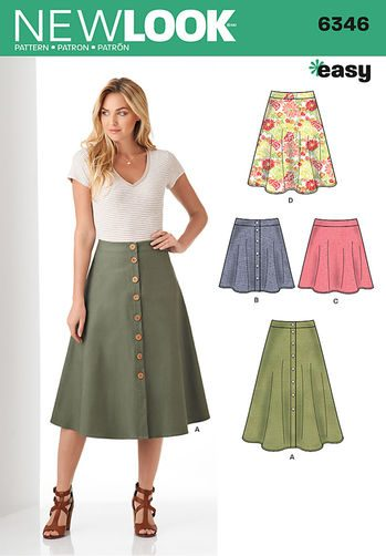 Sewing Pattern Skirts Pants 6346