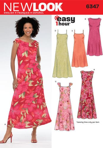 Sewing Pattern Dresses 6347