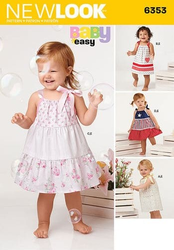 Sewing Pattern Baby Dresses / Pants 6353