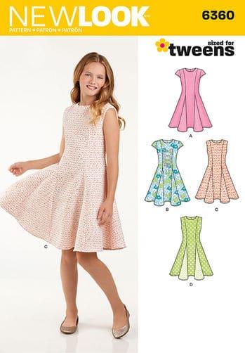 Sewing Pattern Girls Dress 6360
