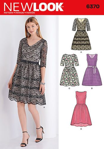 Sewing Pattern Dresses 6370