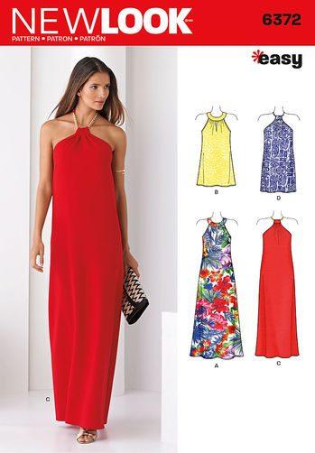 Sewing Pattern Dress 6372