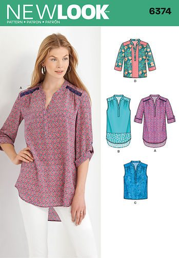 Sewing Pattern Top / Vest 6374