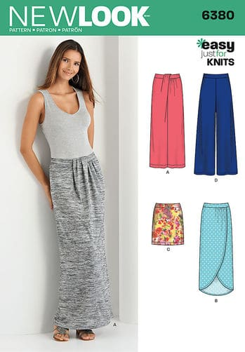 Simplicity New Look Sewing Pattern Skirt / Pants 6380 | ALISELLOU ...