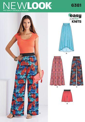 Sewing Pattern Skirt / Pants 6381