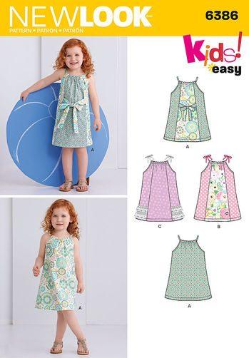 Sewing Pattern Toddler 6386