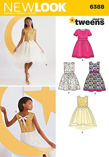 Sewing Pattern Dresses 6388