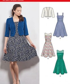 Sewing Pattern Dress & Bolero 6390