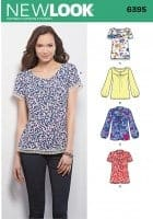 Sewing Pattern Tops 6395