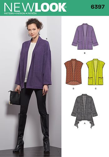 Sewing Pattern Jacket / Vest 6397