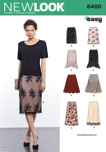 Sewing Pattern Skirts 6400