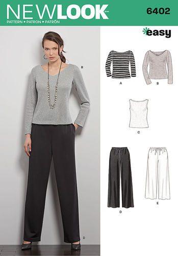 Sewing Pattern Tops / Pants 6402