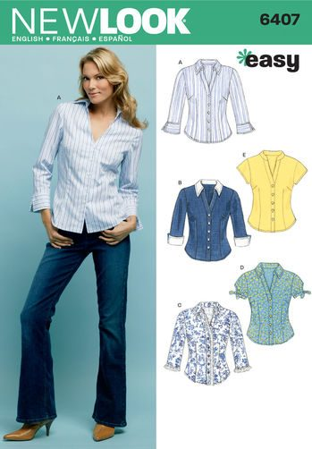 Sewing Pattern Tops Vests 6407