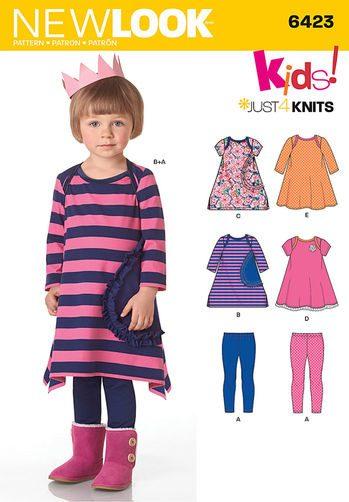 Sewing Pattern Knit Dress Leggin 6423