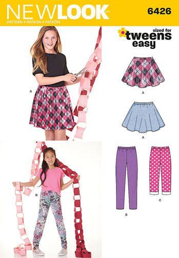 Sewing Pattern Pants & Skirt 6426