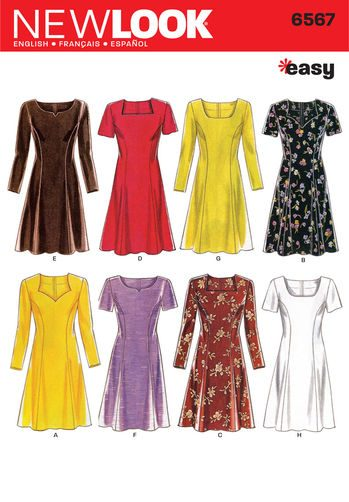 Sewing Pattern Dresses 6567