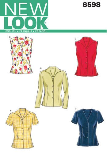 Sewing Pattern Tops Vests 6598