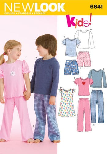 Sewing Pattern Sleepwear 6641