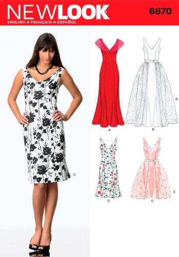 Sewing Pattern Dresses 6670