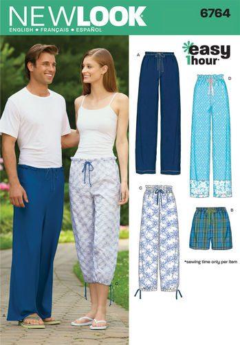Sewing Pattern Skirts Pants 6764