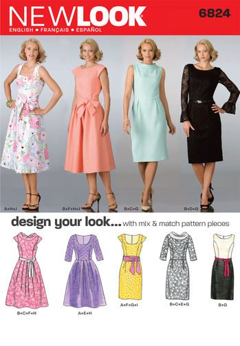 Sewing Pattern Dresses 6824