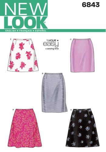 Sewing Pattern Skirts Pants 6843