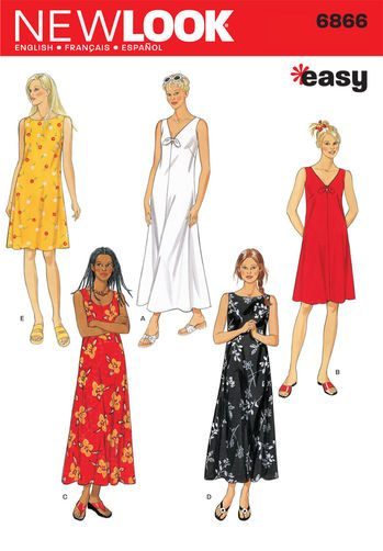 Sewing Pattern Dresses 6866