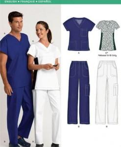 Sewing Pattern Scrubs 6876