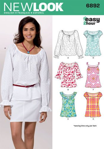 Sewing Pattern Tops Vests 6892