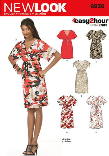 Sewing Pattern Dresses 6936