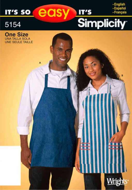 Simplicity Sewing Pattern 5154 - It's So Easy Miss & Men Aprons