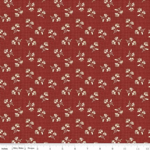 Toile de Jouy Blossoms Red C6133-Red