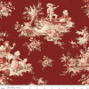 Toile de Jouy Main Red C6130-Red