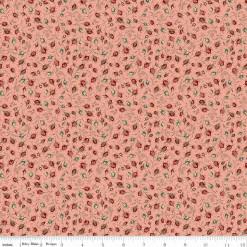 Toile de Jouy Rosebuds Coral C6135-Coral