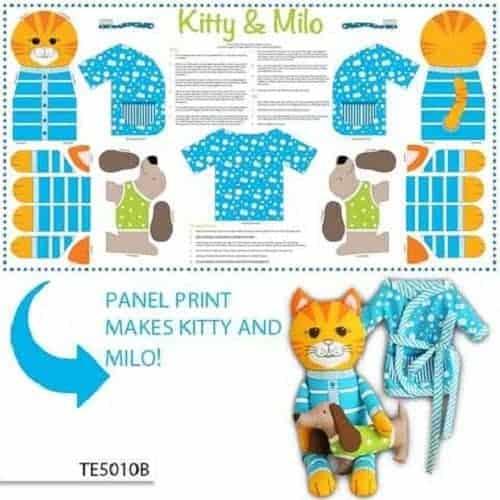 The Cat's Pyjamas Panel Pink