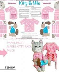 The Cat's Pyjamas Panel Pink