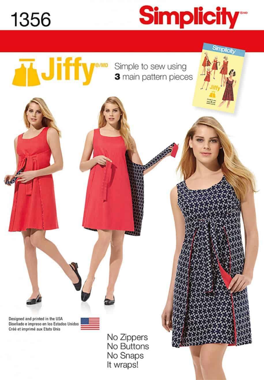 Simplicity sewing pattern 1356 r5 misses jiffy reversible wrap main product image jeuxipadfo Choice Image