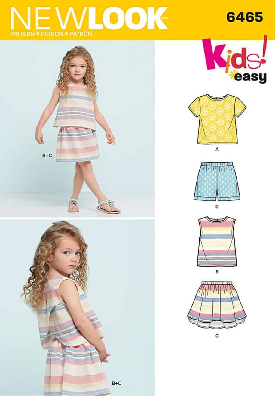 Simplicity New Look Sewing Pattern - Easy Top Skirt and Shorts ...
