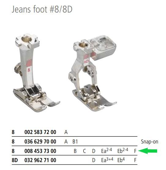 Bernina Presser Foot - #8_Jeans_0084537300