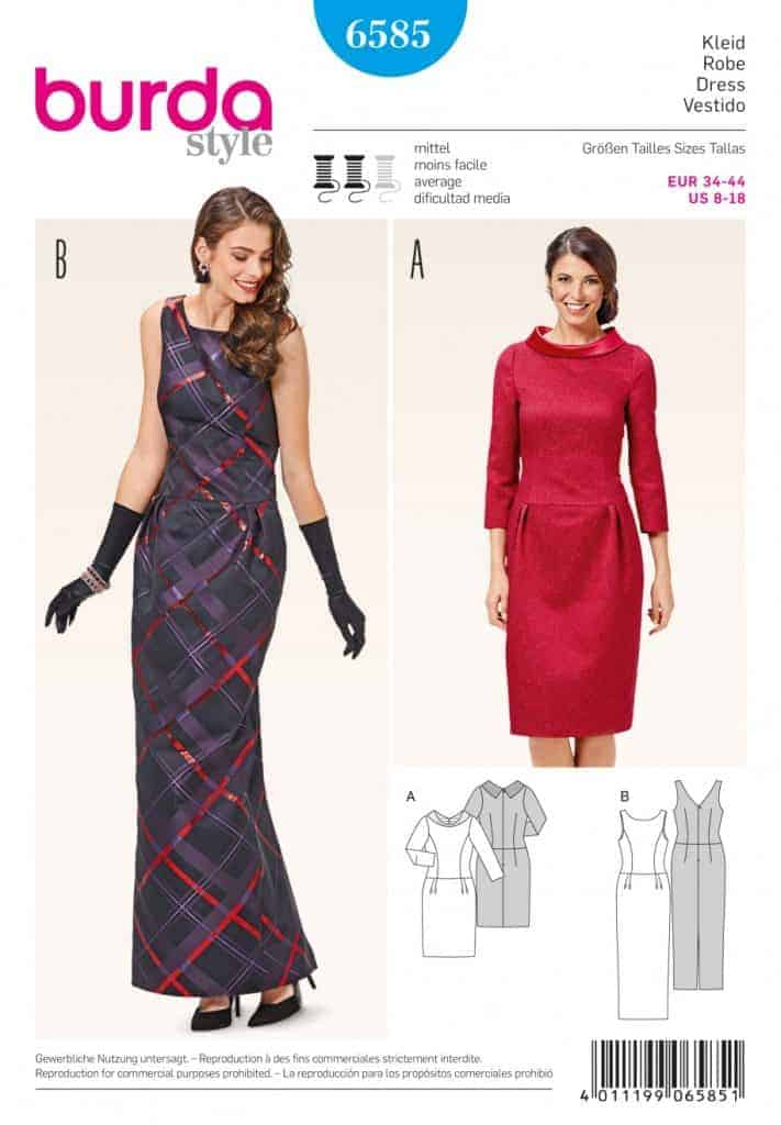 Burda Style Sewing Pattern - 6585 - Dresses | ALISELLOU DESIGNS