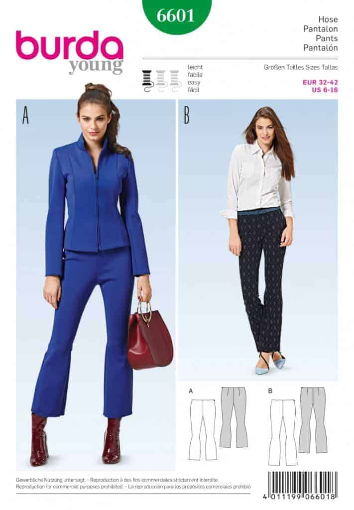 Discontinued) Burda Style Sewing Pattern - 6601 - Pants | ALISELLOU ...