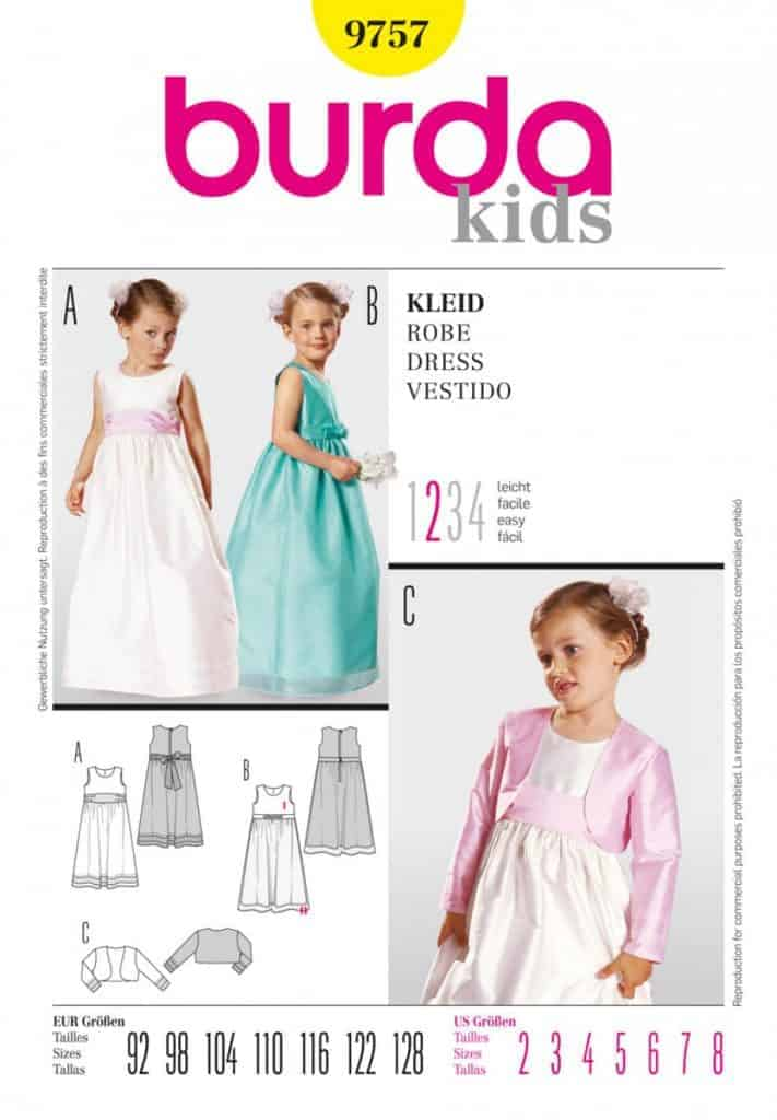 Burda Style Sewing Pattern – 9757 – Dress Festival Fashion 2-8 ...