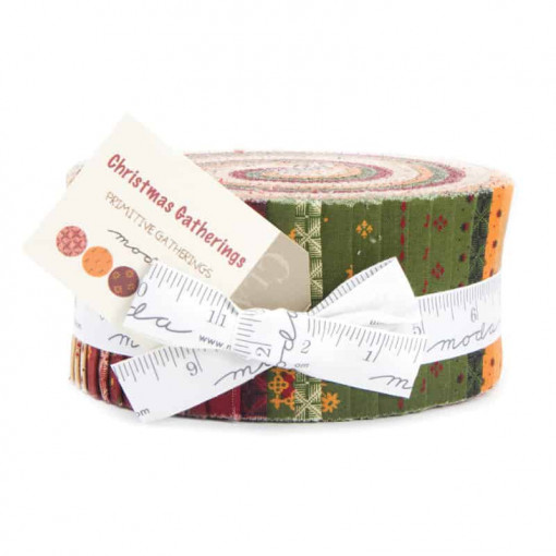 Moda Fabrics Christmas Gatherings Jelly Roll 1170JR