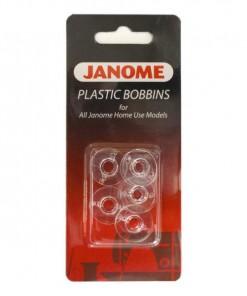 Janome Plastic Bobbins - 5 PACK