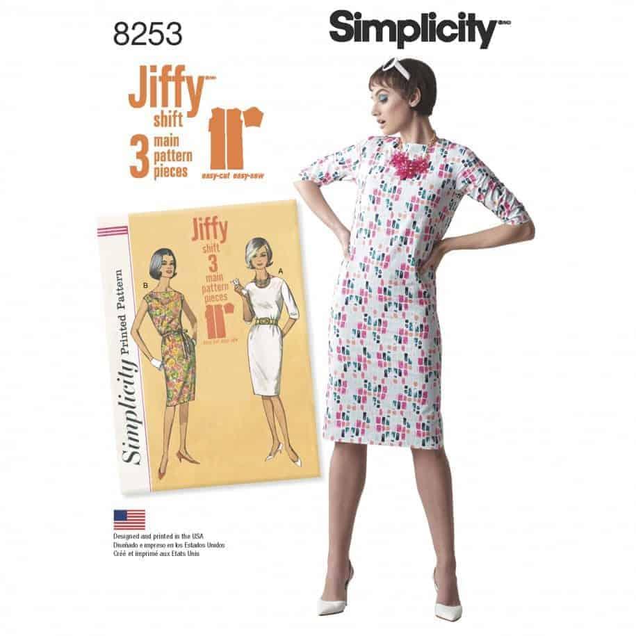 Simplicity Sewing Pattern 8253-D5 - Misses' Vintage 1960's Jiffy Dresses